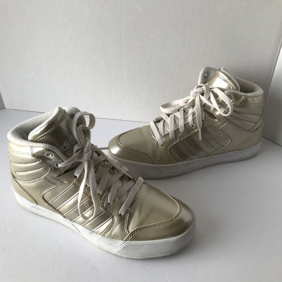 info for 02503 2d4f0 adidas Shoes - Adidas NEO Label Gold High Top Gold Metallic 8.5
